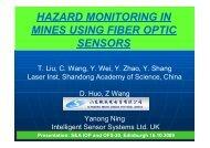 Fiber Optic Sensor in Mine Hazard Monitoring - Usmra.com