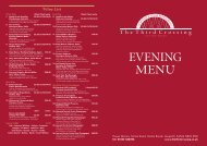 Wine List - The Third Crossing Restaurant