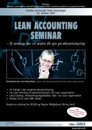 Lean Accounting - Per Nikolaj Bukh, professor i økonomistyring