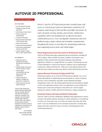 AutoVue 2D Professional - Oracle