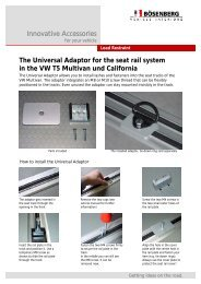 The Universal Adaptor for the seat rail system in the VW T5 Multivan ...