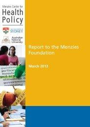 Health Policy - Crawford School of Public Policy