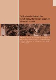 Konfessionelle Kooperation im Religionsunterricht an allgemein ...