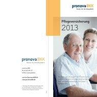 Pflegeversicherung - pronova BKK