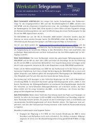 Werkstatt:Telegramm - LAG Niedersachsen WfbM