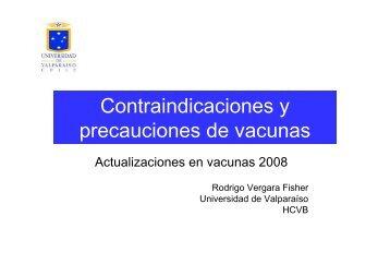 Contraindicaciones y precauciones de vacunas