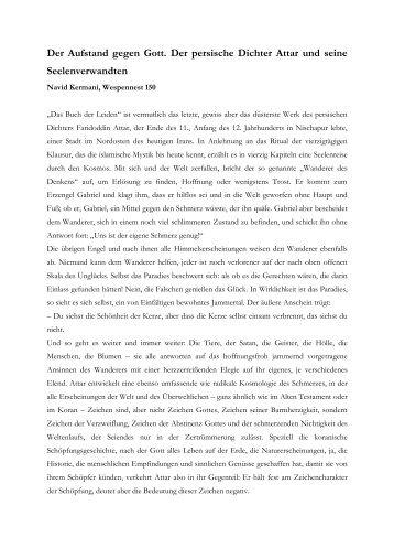 Der Aufstand gegen Gott. Der persische Dichter ... - Navid Kermani