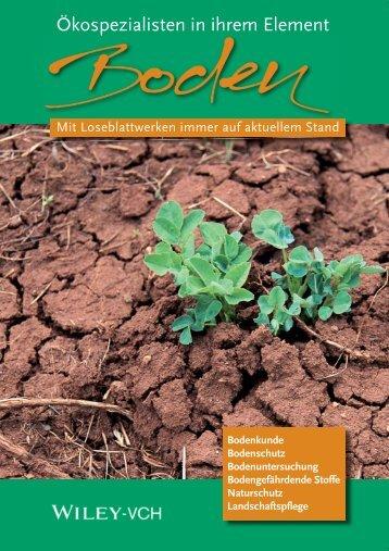 Loseblattwerke Boden - Wiley-VCH