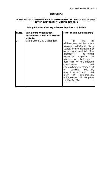 ANNEXURE -9 - Chandigarh