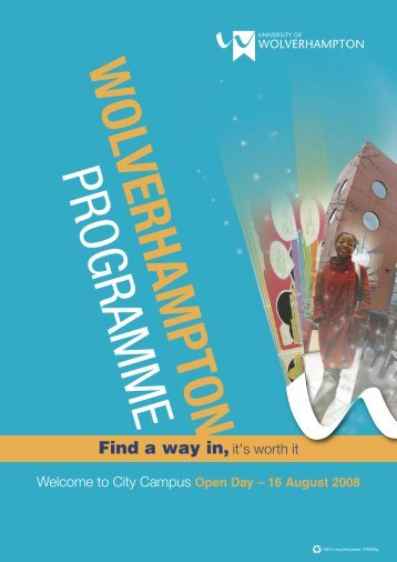 Find a way in, it's worth it - University of Wolverhampton