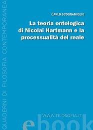La teoria ontologica di Nicolai Hartmann e la ... - Filosofia.it