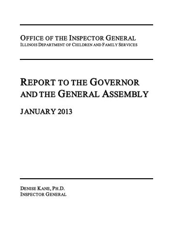 OFFICE OF THE INSPECTOR GENERAL - State of Illinois