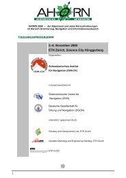 TAGUNGSPROGRAMM 5.-6. November 2009 ... - IGP - ETH Zürich