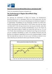 Der Aufschwung in Region Bonn/Rhein-Sieg verliert an Kraft