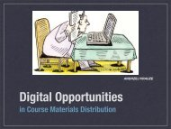 Digital Opportunities in Course Materials Distribution