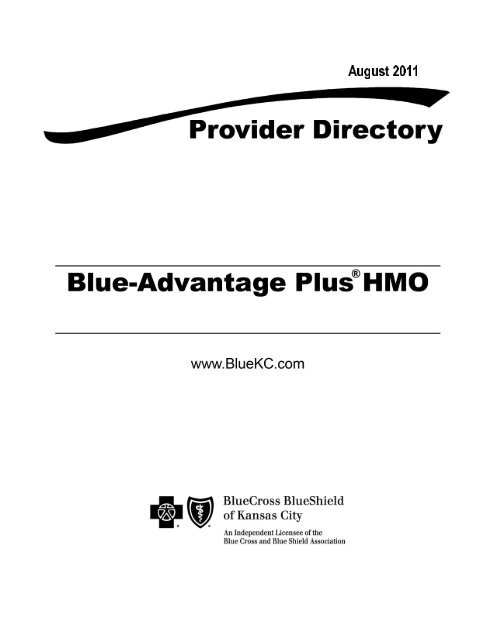 Professional Provider Manual - BCBSKS