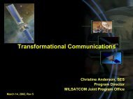 Transformational Communications - USC Center for Systems and ...