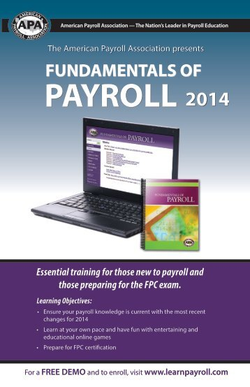 Fundamentals of Payroll - Courses Offered
