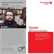 Forum Börsenverein - Börsenverein des Deutschen Buchhandels