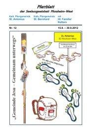 Pfarrblatt Nr. 12-2012 - bei der Seelsorgeeinheit Pforzheim West
