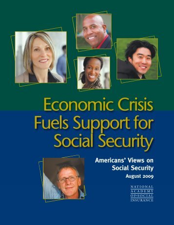 Economic Crisis Fuels Support For Social Security