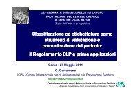 Classificazione ed etichettatura come strumenti di ... - Asl Como