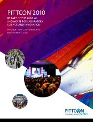 Exhibitor Brochure - Pittcon Web Archives