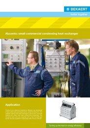 Alucento: small commercial condensing heat exchanger ... - Bekaert