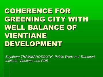 Saykham_Greener City.pdf - Forum for Urban Future in Southeast Asia