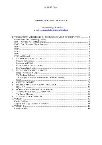 Research paper on history of computer