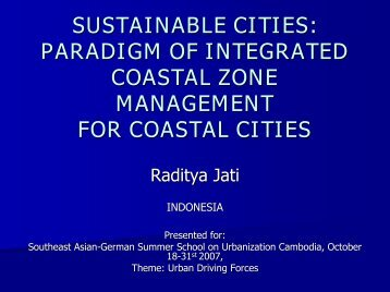 SUSTAINABLE CITIES: PARADIGM OF INTEGRATED COASTAL ZONE MANAGEMENT ...
