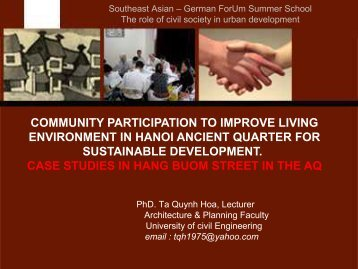Tools - Forum for Urban Future in Southeast Asia