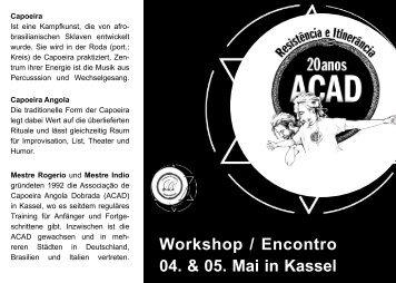 Flyer gibt's hier zum herunterladen - Capoeira Angola Dobrada