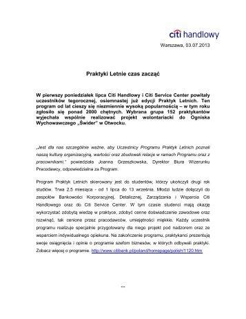 Wersja PDF (172 kB) - Citibank Handlowy