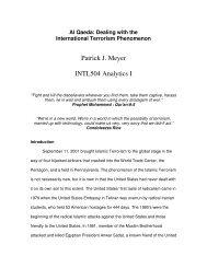 Al Qaeda: Dealing with the International Terrorism Phenomenon
