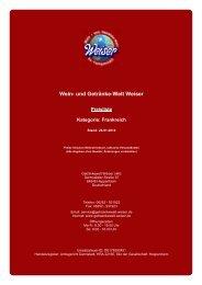 Preisliste für Kategorie: Frankreich - und Getränke-Welt Weiser