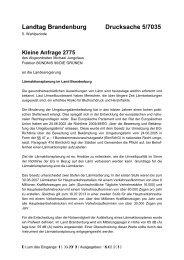 Landtag Brandenburg Drucksache 5/7035