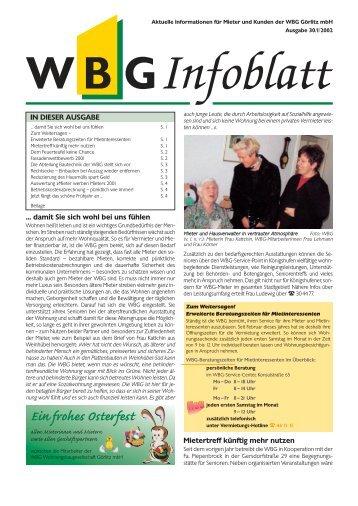 Ein frohes Osterfest - WBG Wohnungsbaugesellschaft Görlitz mbH