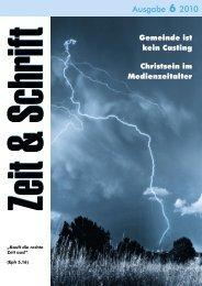 Heft 6/2010 - Zeit & Schrift