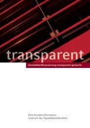 Immobilienfinanzierung transparent gemacht - Verband deutscher ...
