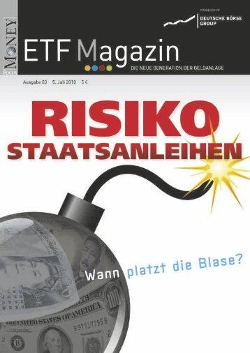"""ETF-Magazin: """"Risiko Staatsanleihen"""" (Q3-2010) - Börse Frankfurt"""