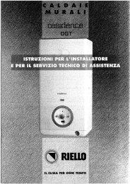 Caldaia Riello Residence 24 KIS DGT 3S - Certened