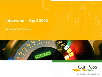 Infoavond – April 2008 - Car-Pass