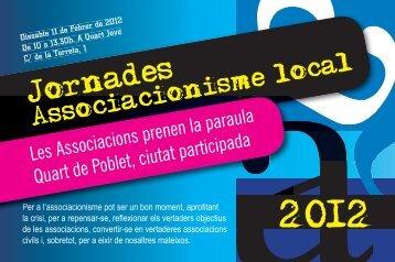Jornades Associacionisme Local 2012 - Quart de Poblet