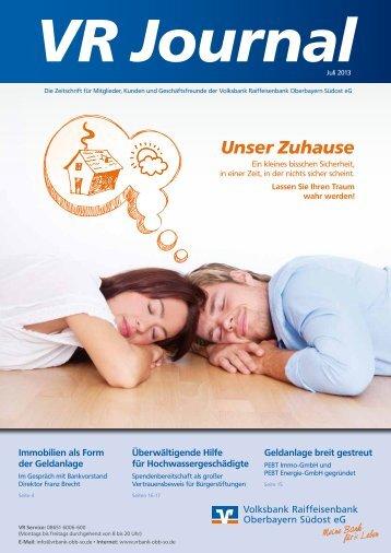 Unser Zuhause - Volksbank Raiffeisenbank Oberbayern Südost eG