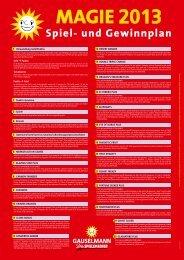 Download Spiel- und Gewinnplan Magie 2013