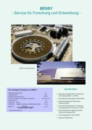 BESSY - Service für Forschung und Entwicklung - - WiTec