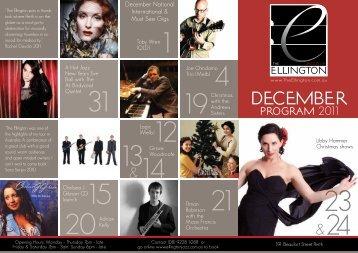 DECEMBER &24 &14 - The Ellington Jazz Club