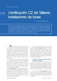 Certificación CZ de Talleres instaladores de lunas - Centro Zaragoza