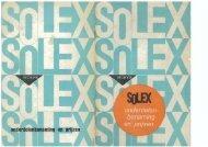 Solex onderdelen prijslijst april 1966 - Van der Heem & Bloemsma